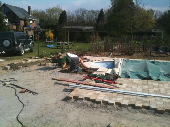 Création de la terrasse